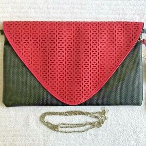 NWT MAD ABOUT STYLE ENVELOPE CLUTCH PURSE BAG 13X8